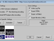 3ds Max MPEG-4 Exporter main export settings window
