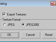3ds Max MPEG-4 Exporter texture texture export window