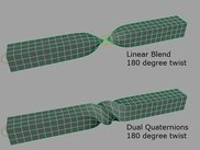 Difference between linear blends and dual quaternions