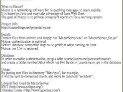 MazurClient 0.7.1.1 Popup Window for Text