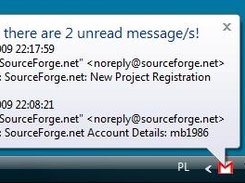 Two unread messages...