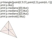 Triangle with a centroid