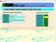MBLogic - Example of the system status page