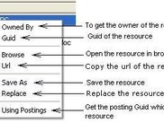 Resource with Context Menu