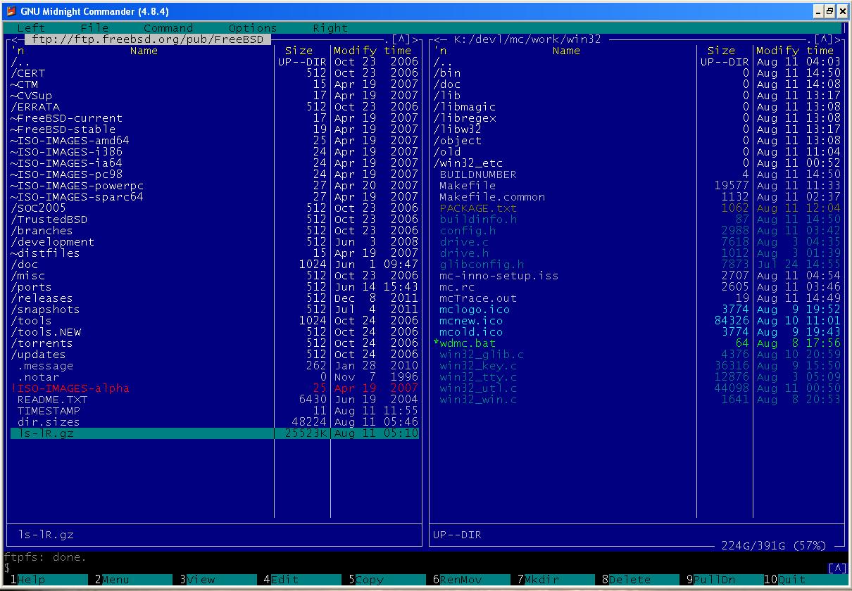 Midnight Commander for Windows download   SourceForge net