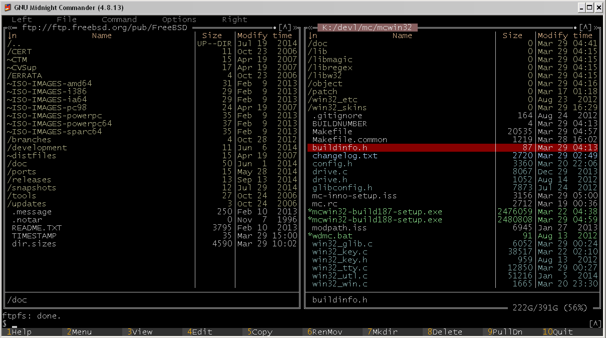 Midnight Commander for Windows download | SourceForge net