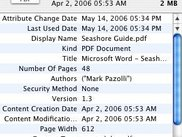 The info window. Note that you may add custom metadata.