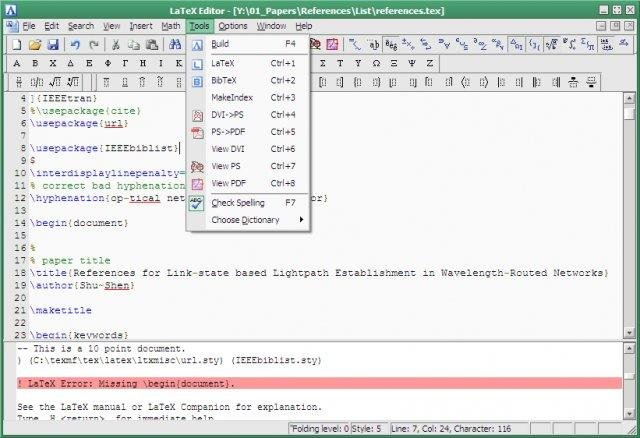 An easy-to-use editor for LaTeX source download