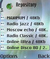 On line station list (Nokia 6681)