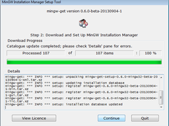 Installer Setup -- Download Dialogue