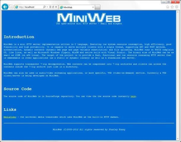 MiniWeb HTTP server download | SourceForge net