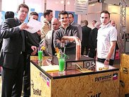 The Punica Team with the machine at Cebit2004, once more