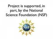 Project partially supported by NSF