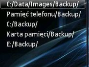 Choose backup path