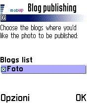 Posting the photo on your Flickr defined blog(s)