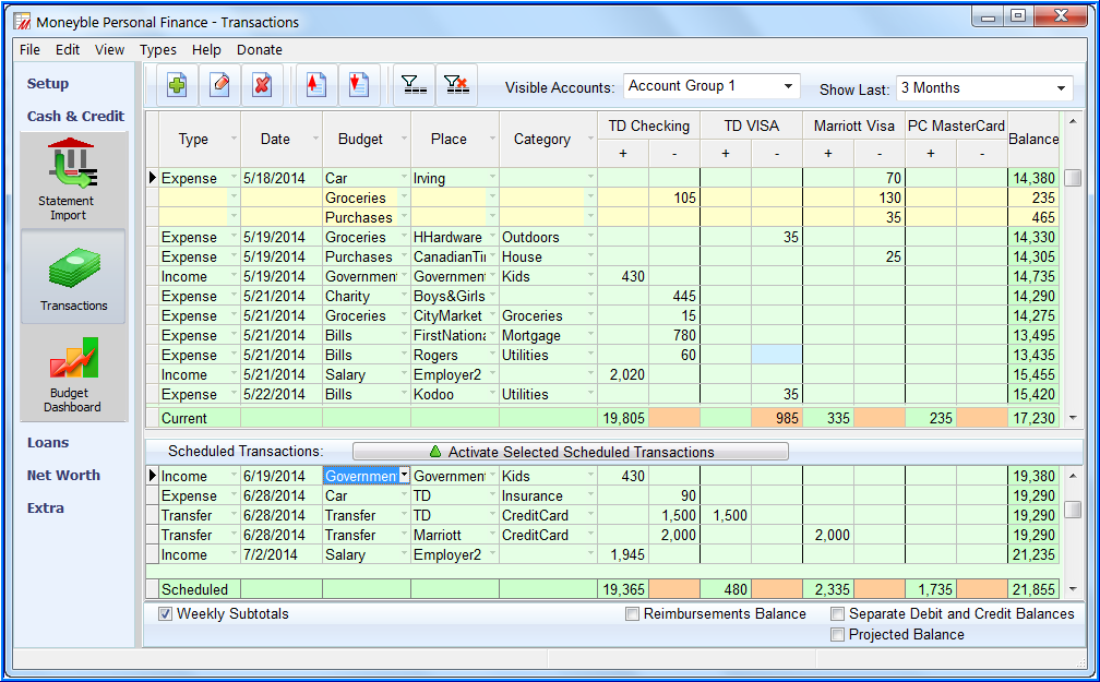 free personal accounting software in excel