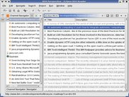 Navigator and Detail views showing read and unread items.