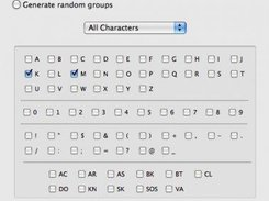 Preferences for what characters are sent