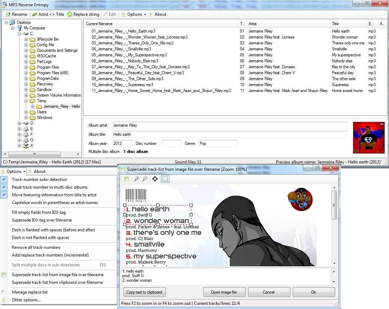 MP3 Reverse Entropy Screenshot