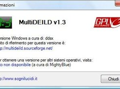 "MultiDEILD ""about"" window (italian localization)"