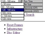 Raw Search Frame With Dropdown Selected
