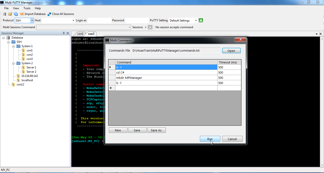 Multi PuTTY Manager download | SourceForge net