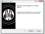 Mumble 1.2.4 setup on Windows 7
