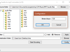 GUI and Config dialog