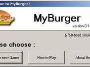 myBurger welcome screen