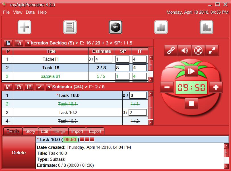 myPomodoro for Mac OS X full screenshot