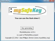 1 MySafeKeyGen application - Flash Drive waiting - English