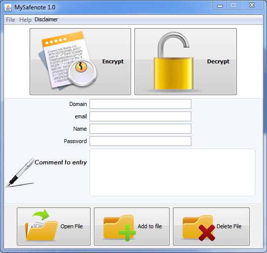MySafenote download | SourceForge net