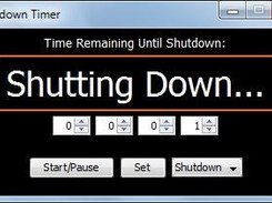 4 Shutdown mode - Countdown ended, shutting down pc