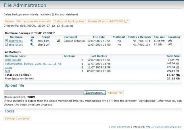 MySQLDumper download | SourceForge net