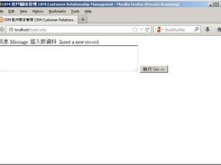 MzzCRM User Interface In Firefox