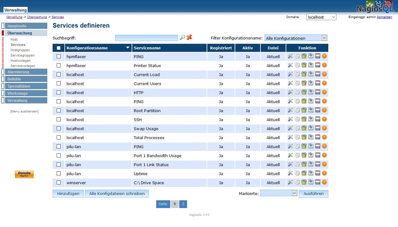 NagiosQL - Nagios configuration tool download | SourceForge net