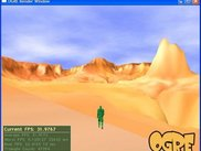 Standing somewhere in the grand canyon map