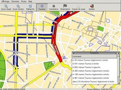 NavIt, using GTK gui in French and OSM map from Munchen