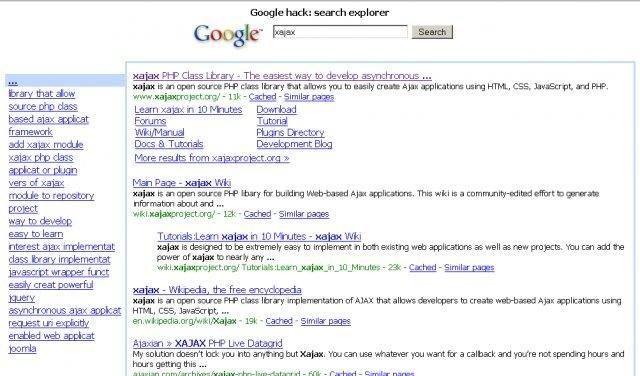 Google hack: search explorer download | SourceForge net