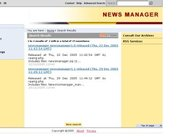 Newsmanager search results view
