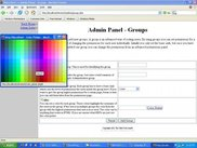 Admin - Groups color picker