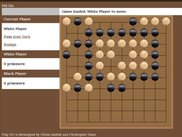 A goban with players in a difficult position...