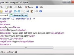 Notepad X 2.0.9 Using fugure icons