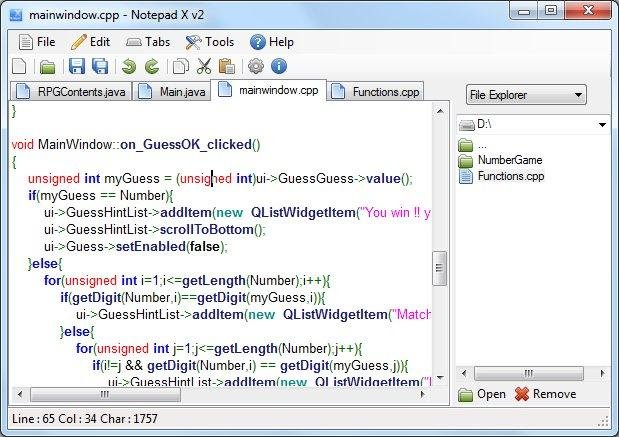 Notepad X download   SourceForge net