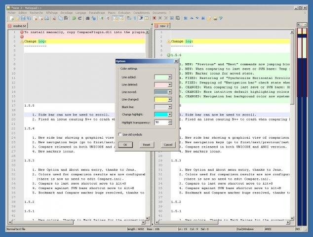 Notepad++ Compare plugin download | SourceForge net