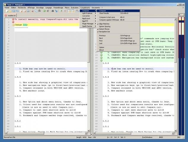 Notepad++ Compare plugin