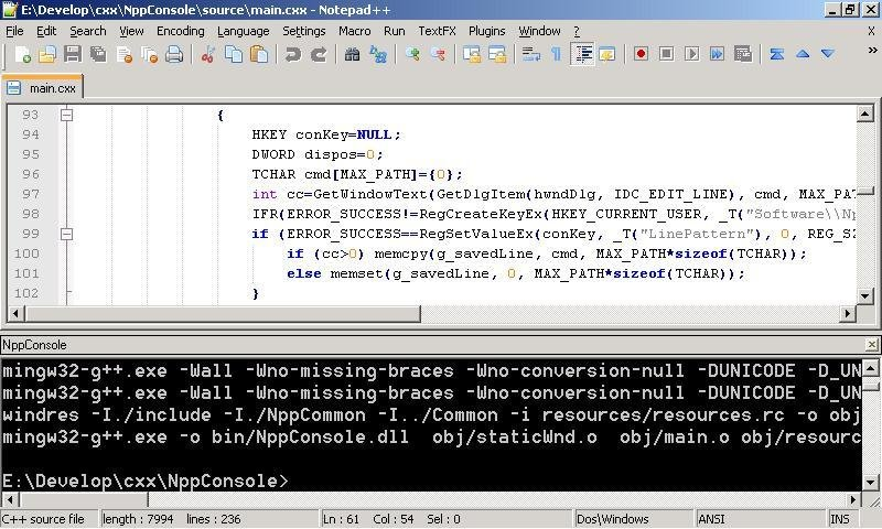Notepad++ console plugin download | SourceForge net