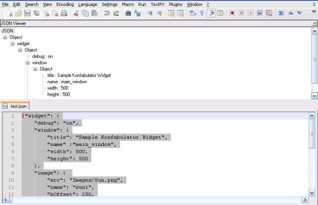 jsonviewer notepad plugin