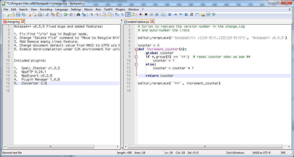 Notepad++ Python Script download | SourceForge net