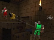 Two players fighting over yellow armor.